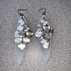 Poltergeist earrings, earrings, leather earrings